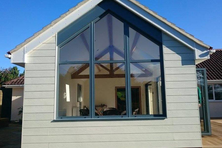 Grey aluminium bespoke casement window
