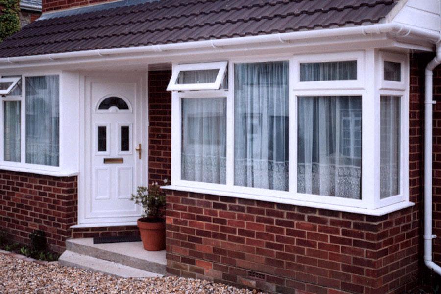 uPVC entrance door with glazed units