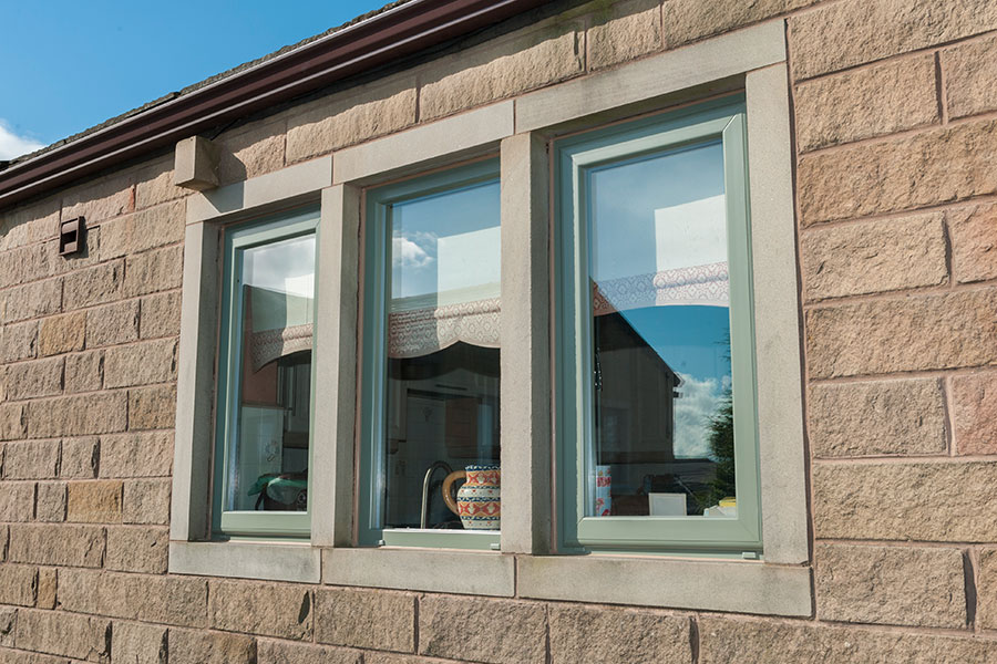 Chartwell green uPVC casement window