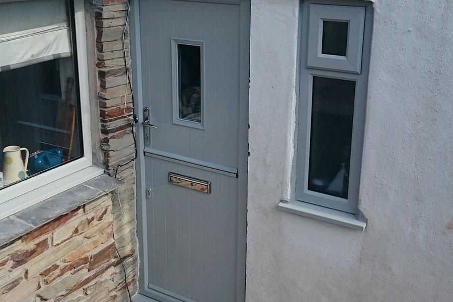 Grey stable door