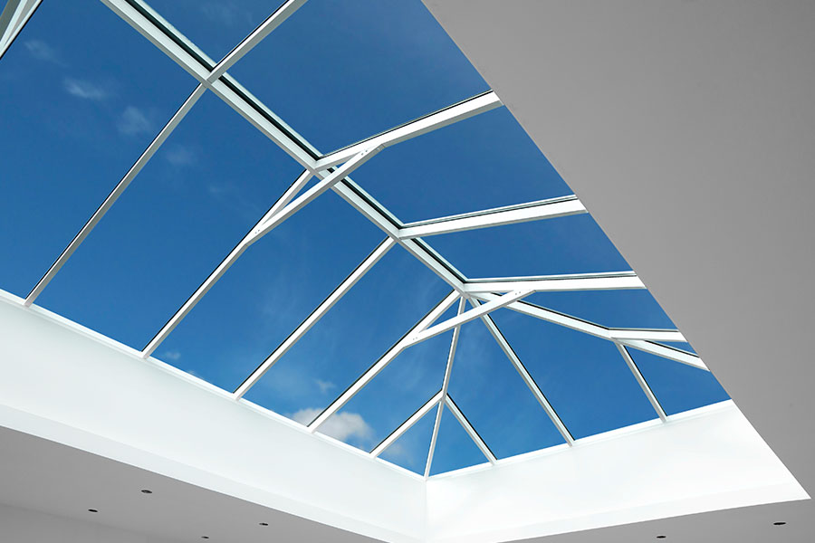 Large glazed lantern roof to lighten up extension