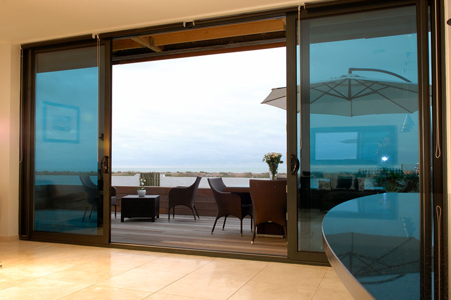 Sliding aluminium patio door