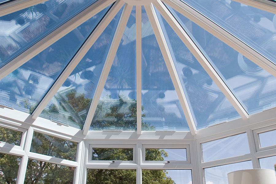 Glass victorian conservatory roof with uPVC struts- conservatory refurbishment