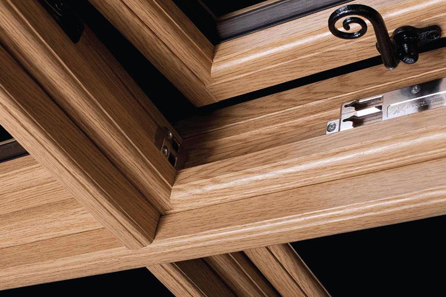 Oak effect uPVC windows