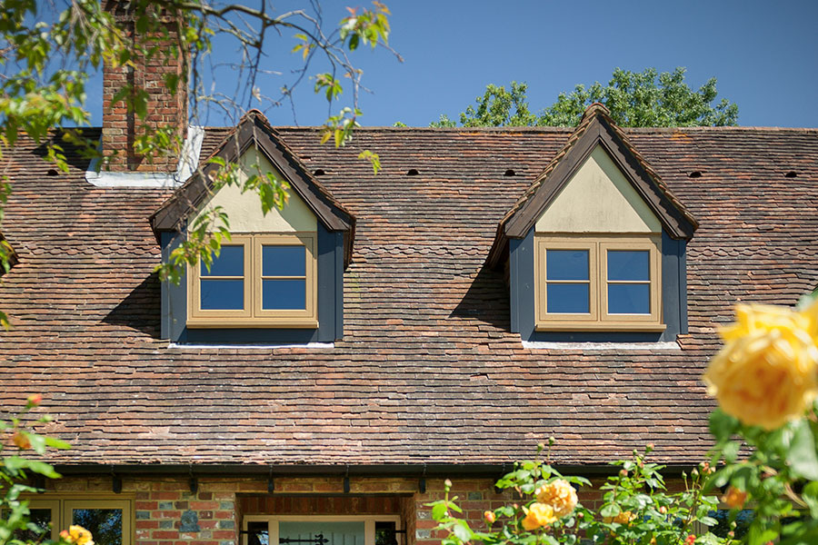 Residence 9 oak effect window installation