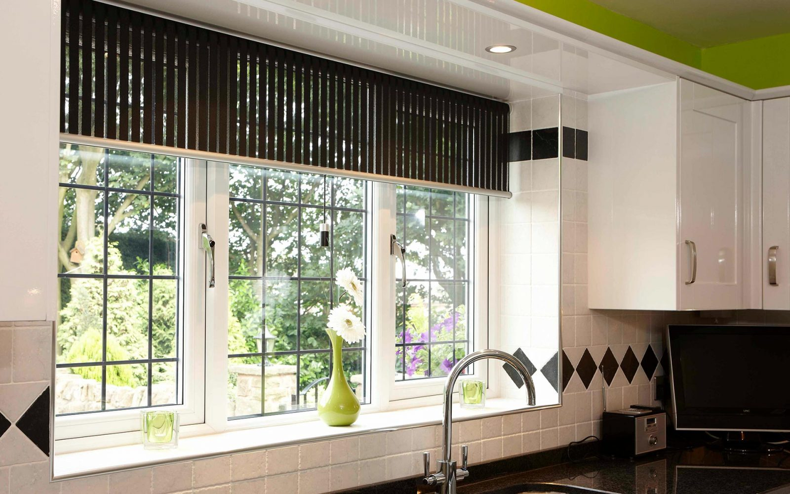 uPVC windows with lead detail internal shot from kitchen