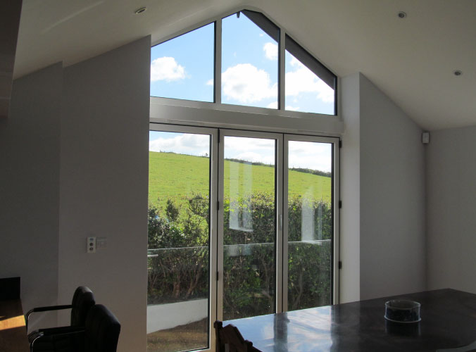 Bespoke angled windows with double glazing