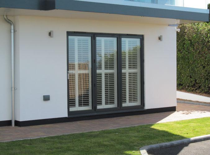 Bifolding patio door installation for Bigbury project