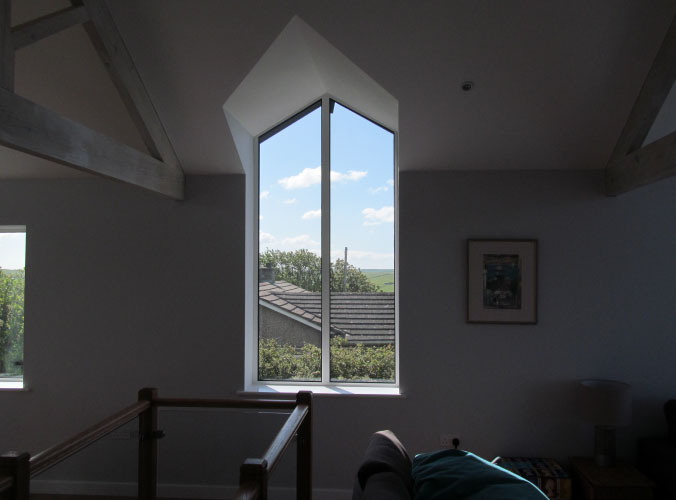 Large bespoke shaped windows