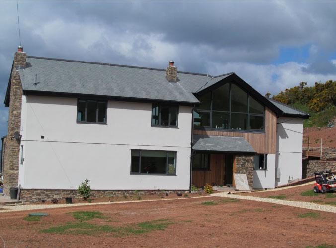 Manor bourne property with glazed windows