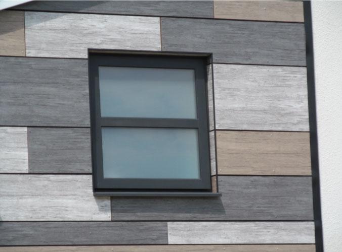 Black casement window with double glazing