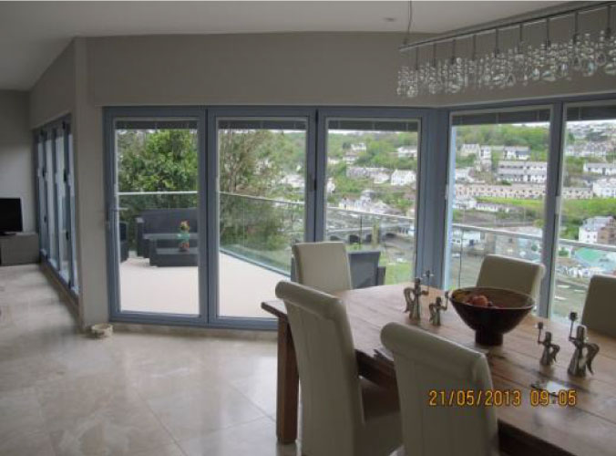 Internal view of patio doors project