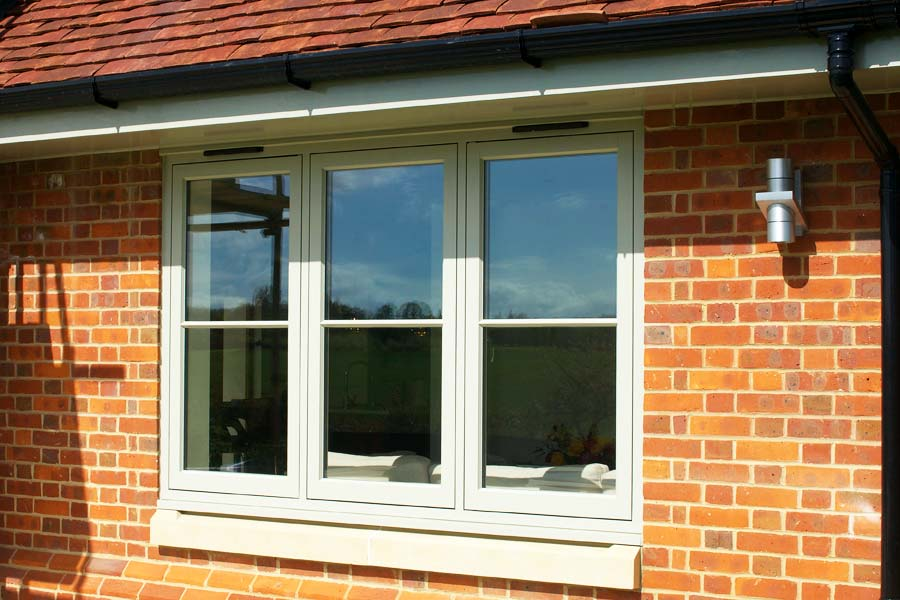 uPVC flush sash casement window on a sunny day