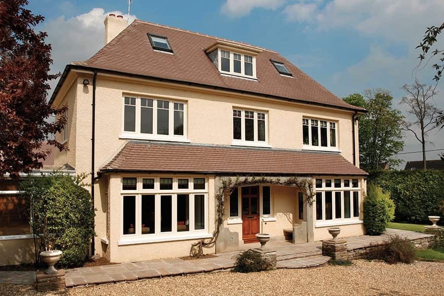 Cream colour aluminium windows