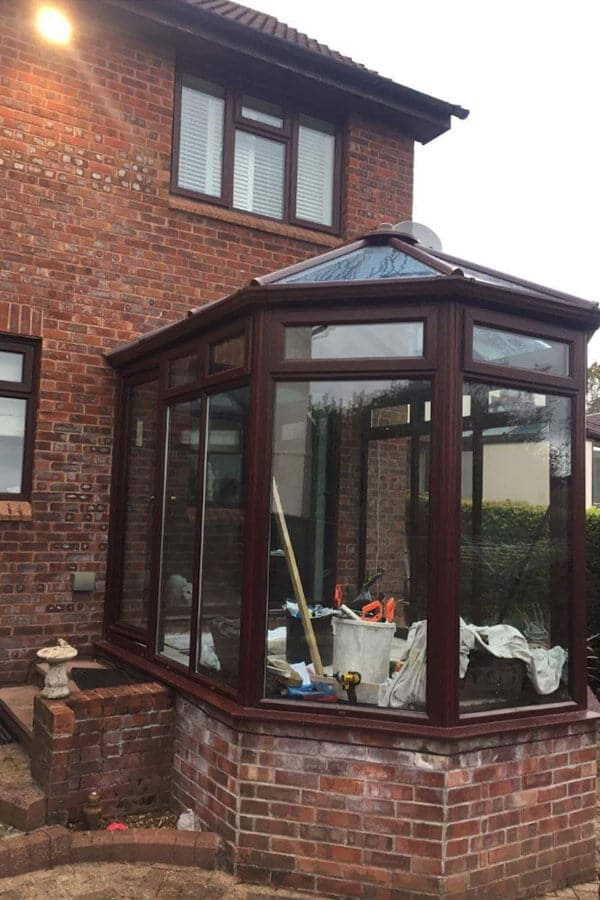 Completed Conservatory glass roof installation