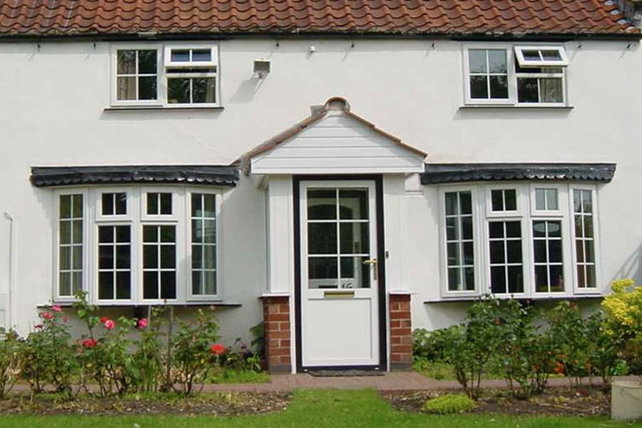 uPVC window and door installation on large house